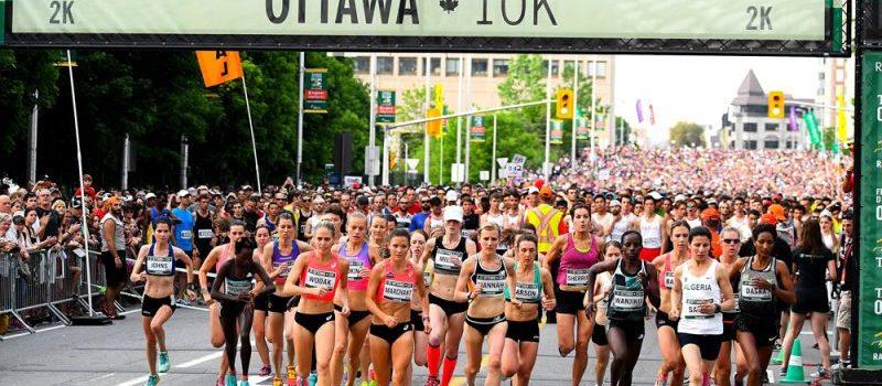 Women marathoners at the 2016 Ottawa 10K