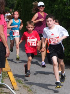 Kids at the Canada Day Road Races