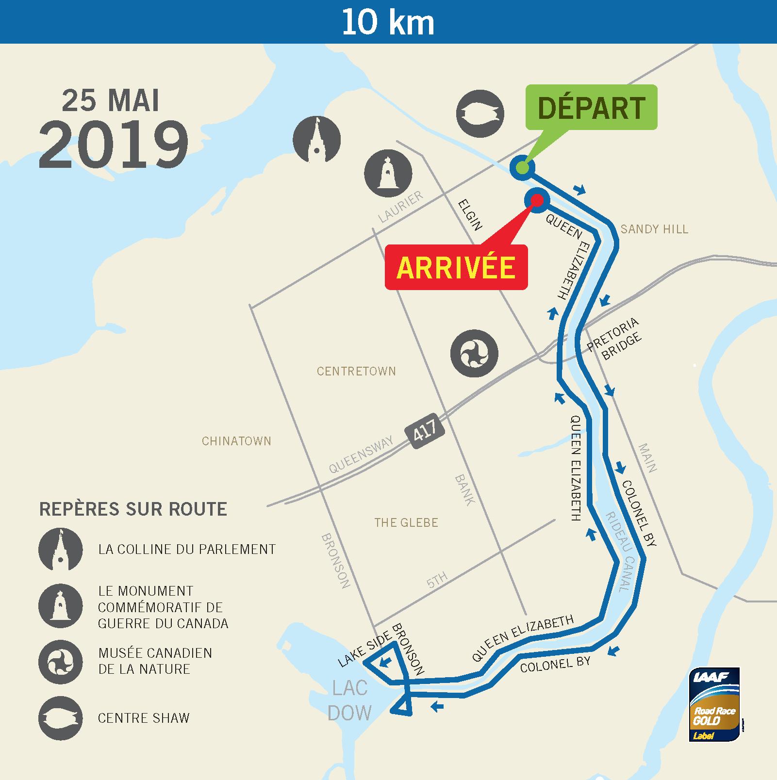 10K course route