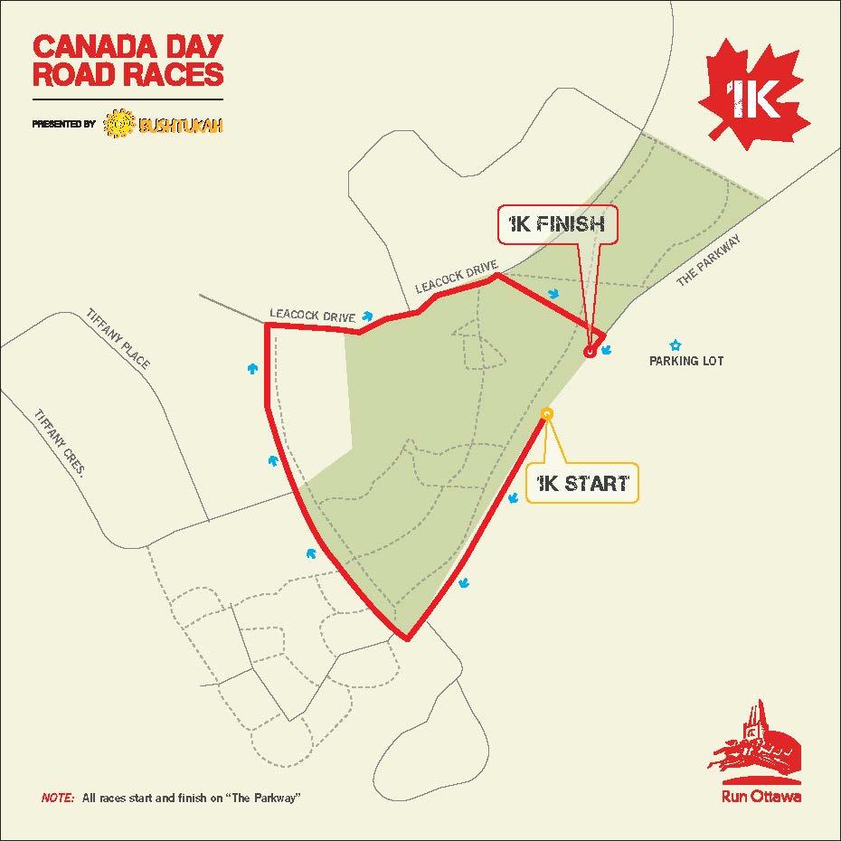 Ottawa On Map Of Canada.Canada Day Road Races Run Ottawa