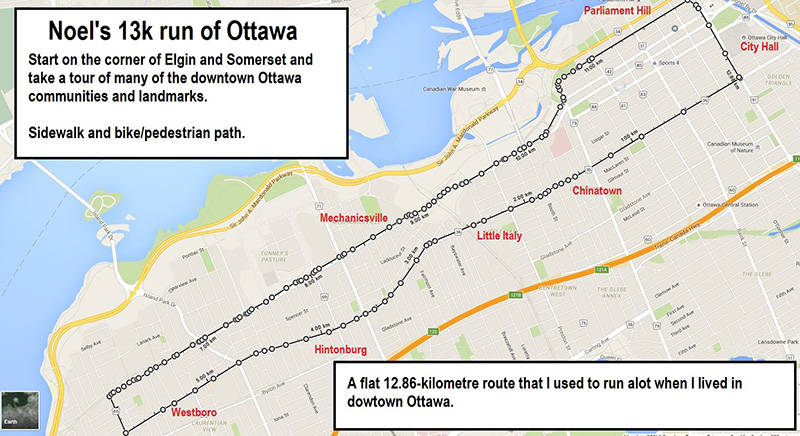 Team Awesomes Favourite Running Routes Run Ottawa - Running map distance tracker