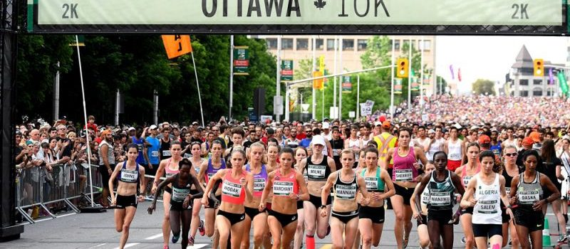 Professional athletes from around the world come to Ottawa to compete in the 10K IAAF race