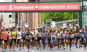 Professional marathon runners from around the world compete in the Scotiabank Ottawa Marathon