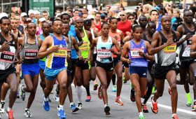 Professional athletes from around the world compete in the Scotiabank Ottawa Marathon