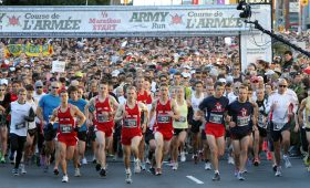 People take off from Canada Army Run start line