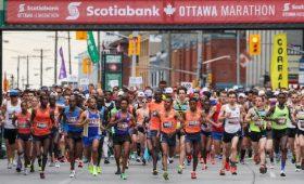 Scotiabank Ottawa Marathon start line