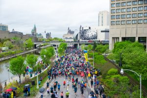 Runners line up for the Ottawa 10K in Canada's capital