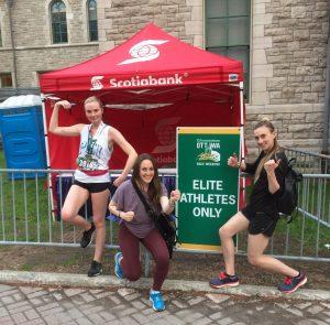Jackie McIver, Lauren Ryder, and Alex Sullivan at Tamarack Ottawa Race Weekend 2018