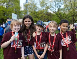 Scotiabank Ottawa Marathon kids sport their bling - medals!