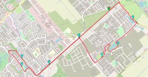 Lorena MacKenzie's Ottawa running route in Kanata/Stittsville