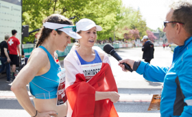 Krista Duchene and Dayna Pidhoresky at the 2019 Scotiabank Ottawa Marathon