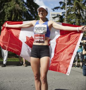 Dayna Pidhoresky was the Canadian Champion at the 2019 Scotiabank Ottawa Marathon